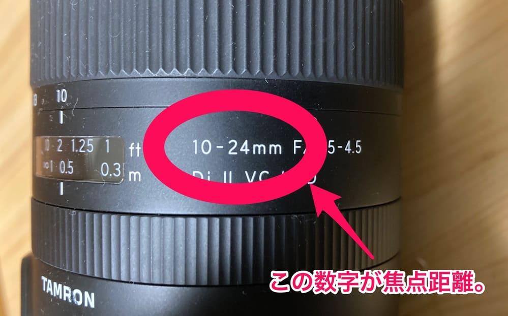 広角レンズの焦点距離