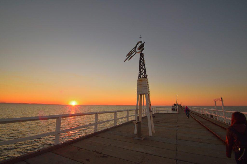 バッセルトン桟橋の夕日