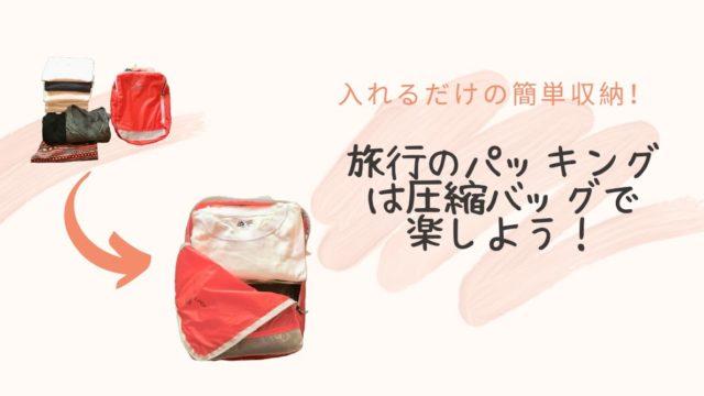 旅行におすすめな圧縮バッグ