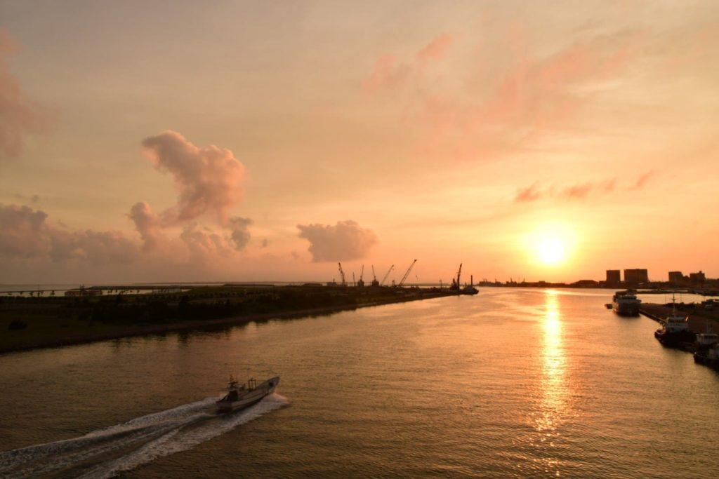 サザンゲートブリッジの夕日